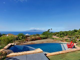 Lahaina house photo - Spectacular views from lower lanai, infinity pool and 8 person spa!