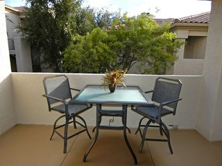 Ahwatukee condo photo - Two more bar height patio chairs are in the corners behind camera