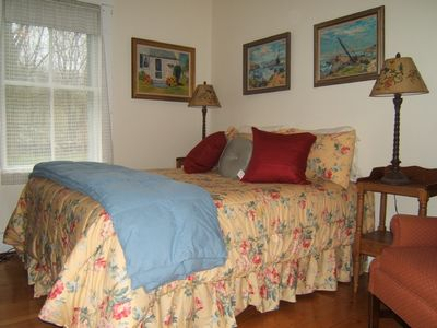 Rockport house rental - 1st Floor Bedroom w/ 1/2 bath (Queen)