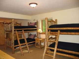 Jackson Hole house photo - Hand made full length bunk beds in bunk room