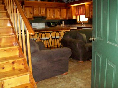 Lake Ouachita cabin rental - Family Room/Kitchen