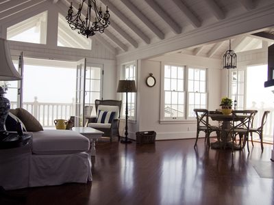 Living and Dining Room both open up onto decks overlooking the beach.