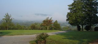 Charlottesville farmhouse photo - Mountain View on a Misty Morning.