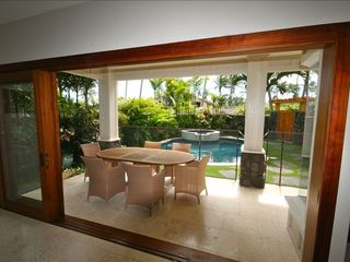 Kailua house photo - Lanai with View of Private Pool & Jacuzzi