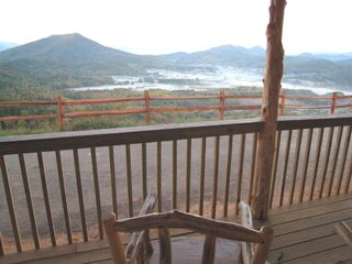 Wears Valley cabin photo - View from front deck - Round Top and Wears Valley