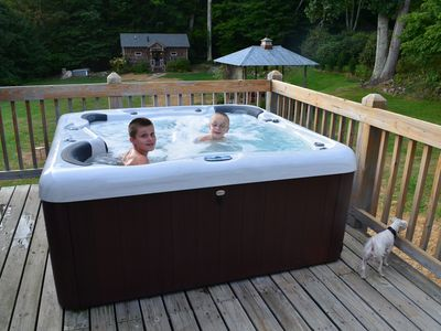 Hot tub is open all year until 11pm every night