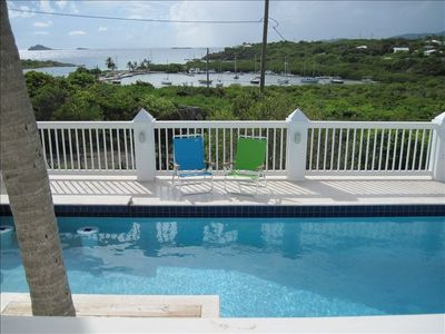 Water Island condo rental - Pool Overlooking Flamingo Bay