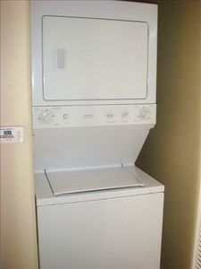 Washer/Dryer inside the condo for personal use