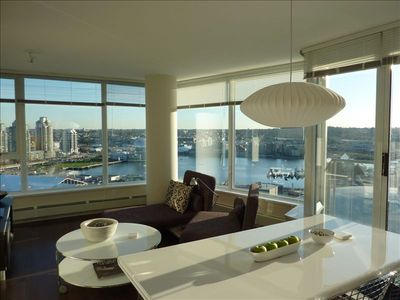 Living Room:  Daytime View to False Creek