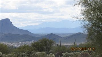 Marana house rental - View from the deck facing South towards Tucson.