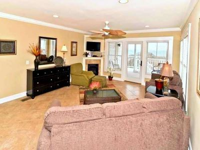 Amelia Island townhome rental - Great Room with Ocean View