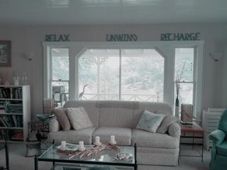 Harpswell cottage photo - The living room takes up the width of the cottage facing the water ~