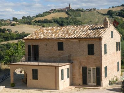 Traditional restored country house in Le Marche, Italy