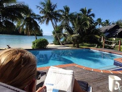 Muri vacation rental vrbo 3522796ha 2 br rarotonga house in cook islands absolutely private for Vacation rentals with private swimming pool