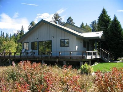 West Yellowstone house rental - MOOSE TRACKS set in the mountains and only 7 miles from Yellowstone Park.