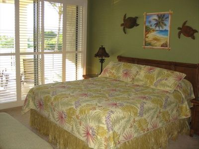 Master Bdrm -All new-CA King -Flat screen TV Lanai off bedroom and it's own bath
