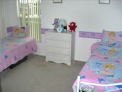 Altamonte Springs house rental - Second floor Bedroom with two Twin Beds