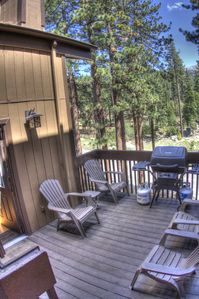 Private Outdoor Deck with Propane Grill