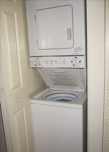 Your own washer and dryer in the unit for convenience.  All linens provided.