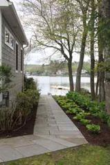 Bantam Lake house photo - garden pathway