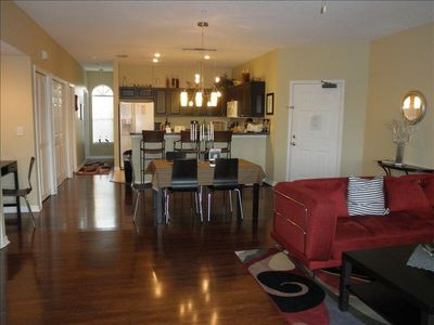 Indian Shores condo rental - Huge living area with beautiful hardwood floors