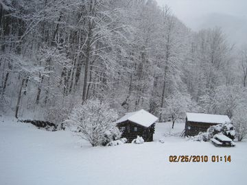 A white Christmas from the cabin.