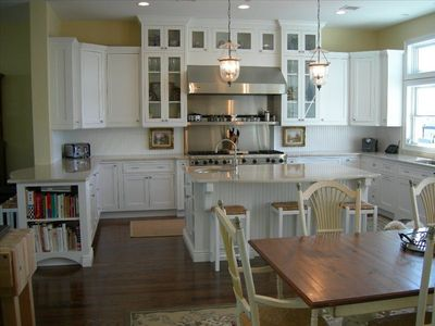 Gourmet Kitchen & Breakfast Area with West views of Shrewsbury & Navesink Rivers