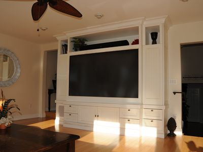 82' LCD projection T.V. with surround sound speakers