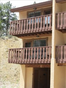 Casa Nueva #6 is an end unit with two balconies.