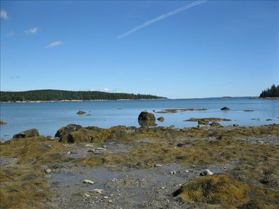 View of Webb Cove - nice rocky beach area to explore!