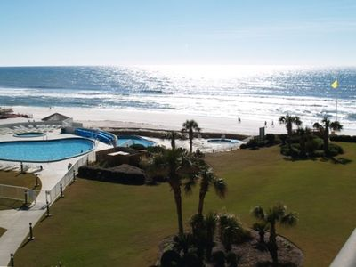 Fantastic Gulf & Pool View from Den & Bedroom Oversized Balcony