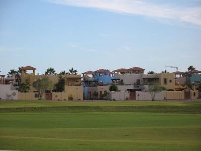 Loreto Bay Homes from the central part of the golf course