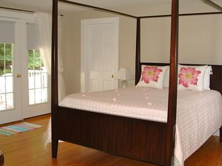 Ogunquit house photo - Ogunquit Beach Bungalow Master bedroom with deck & bath Rentals By The Sea