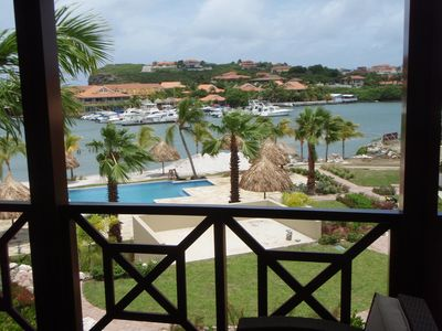 Great views of the Spanish Water and Ocean from your veranda!