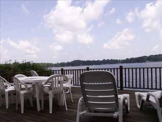 Lakeside Deck - Sister Lakes house vacation rental photo