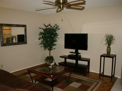 Family Room/TV room with dry bar
