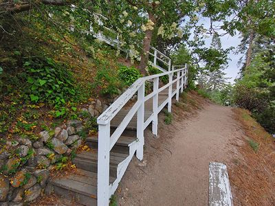 Path that leads around lake. It is a 30 minute walk to Lake Arrowhead Village