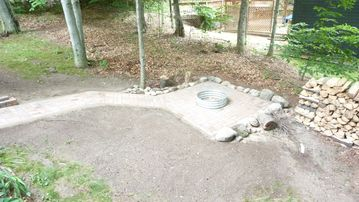 New Paved Firepit Area