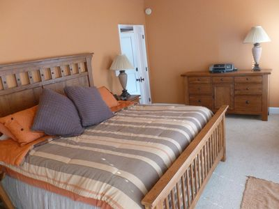 Master suite - King with beautiful lake view. Bath has rain shower head.