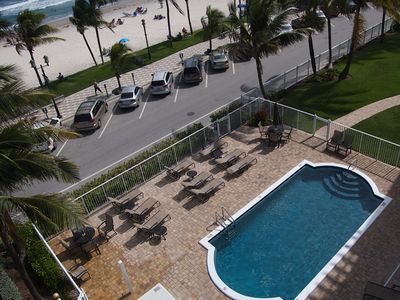 Deerfield Beach condo rental - View of the Pool and Lawn Area