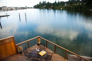 Bainbridge Island house rental - Back deck overlooking the lagoon