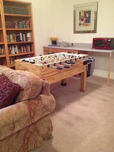 New Foosball Table in Downstairs Family Room