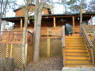 Lake Bob Sandlin lodge photo - rear of cabin
