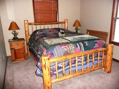 Queen bedroom on second level . . .