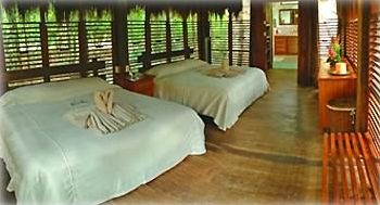 Interior of Cabaña furnished with 2 king beds