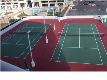 Lighter Tennis Courts on Sports Deck