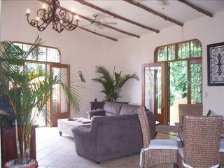 Jaco villa photo - Top floor living room w/ rainforest & ocean views