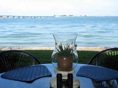 Sanibel Island condo rental - Lanai area looking out over the Bay