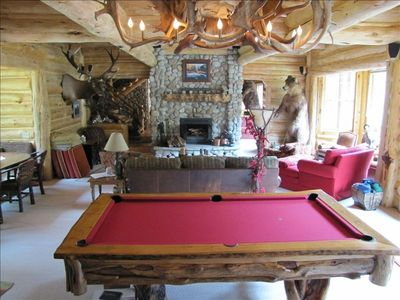 Pool table and the Great Room