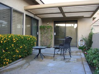 Palm Desert condo photo - Enjoy the morning sun as you sip on a cup of coffee taking in the mountain view